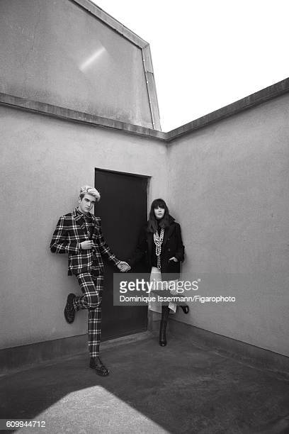 Actress Isabelle Adjani and actor/son GabrielKane DayLewis are photographed for Madame Figaro on April 4 2016 in Paris France GabrielKane Suit shirt...