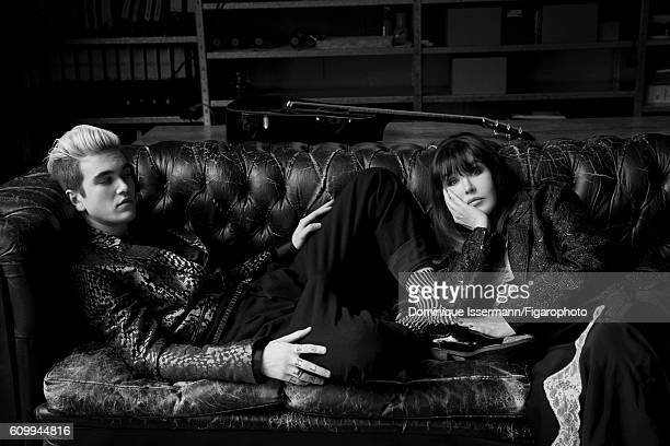Actress Isabelle Adjani and actor/son GabrielKane DayLewis are photographed for Madame Figaro on April 4 2016 in Paris France GabrielKane Jacket...