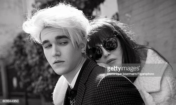 Actress Isabelle Adjani and actor/son GabrielKane DayLewis are photographed for Madame Figaro on April 4 2016 in Paris France Isabelle Coat...