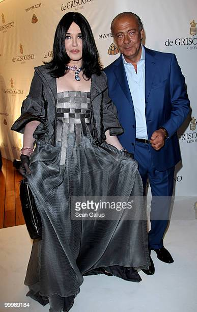 Actress Isabelle Adjani and Fawaz Gruosi attend the de Grisogono party at the Hotel Du Cap on May 18, 2010 in Cap D'Antibes, France.