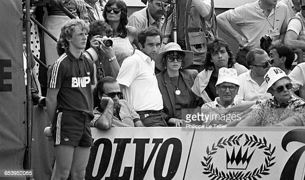 Actress Isabelle Adjani at the Roland Garros tennis tournament Paris France 1983
