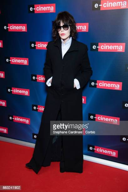 Actress Isabelle Adjani attends 'ecinemacom' Launch Party at Restaurant L'Ile on November 30 2017 in IssylesMoulineaux France