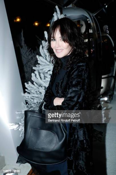 Actress Isabelle Adjani attends L'Alpe Delvaux Party at Palais Royal on December 14 2018 in Paris France