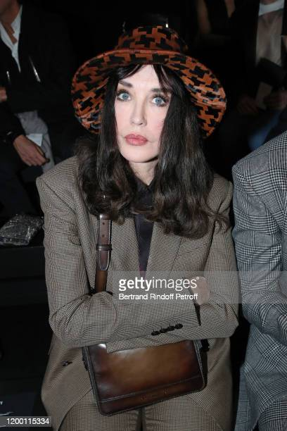 Actress Isabelle Adjani attends the Berluti Menswear Fall/Winter 2020-2021 show as part of Paris Fashion Week at Opera Garnier on January 17, 2020 in...