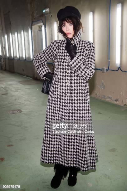 Actress Isabelle Adjani attends the Vendorama Exhibition Boucheron Celebrates Its 160 Anniversary at Monnaie de Paris on January 11 2018 in Paris...