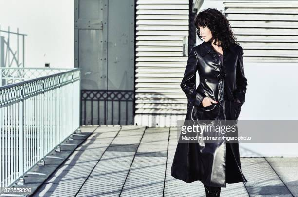 Actress Isabelle Adjani is photographed for Madame Figaro on October 4 2017 in Paris France Coat and boots Make up by Givenchy Le Makeup PUBLISHED...