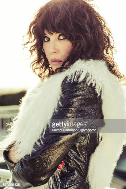 Actress Isabelle Adjani is photographed for Madame Figaro on October 4 2017 in Paris France Jacket Make up by Givenchy Le Makeup PUBLISHED IMAGE...