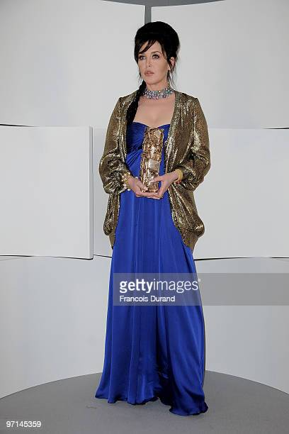 Actress Isabelle Adjani poses after she received Best Actress Cesar Award during 35th Cesar Film Awards at Theatre du Chatelet on February 27 2010 in...