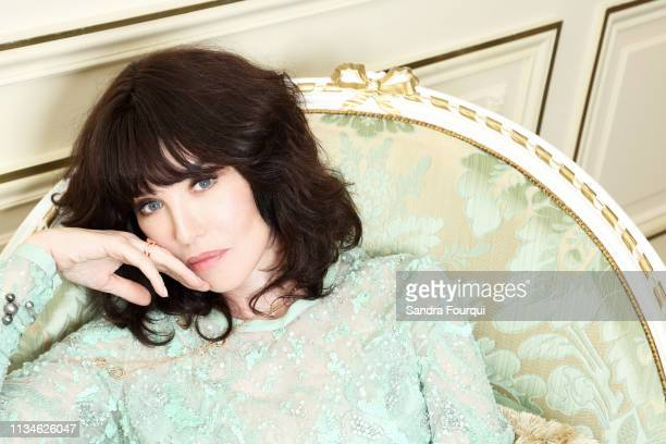 Actress Isabelle Adjani poses for a portrait on April 2018 in Paris, France. . .
