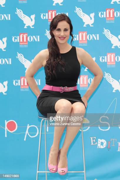 Actress Isabelle Adriani attends 2012 Giffoni Film Festival photocall on July 22 2012 in Giffoni Valle Piana Italy