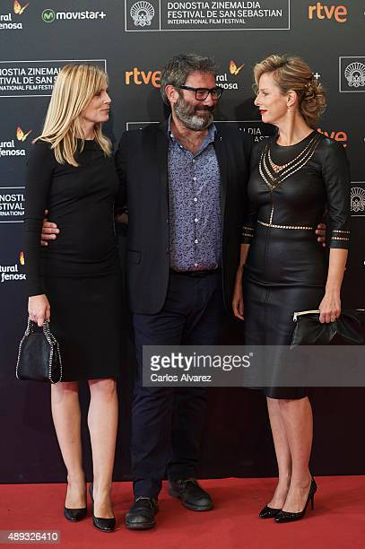 Actress Isabelle Carre actor Sergi Lopez and actress Karin Viard attend the '21 Nuits Avec Pattie' premiere at the Kursaal Palace during the 63rd San...