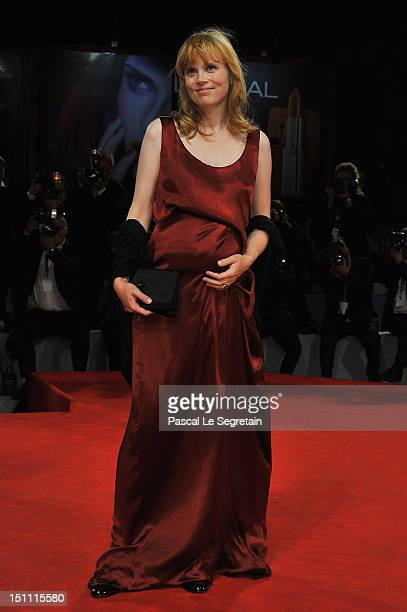 Actress Isabelle Carre attends the 'Cherchez Hortense' Premiere during The 69th Venice Film Festival at the Palazzo del Cinema on September 1 2012 in...