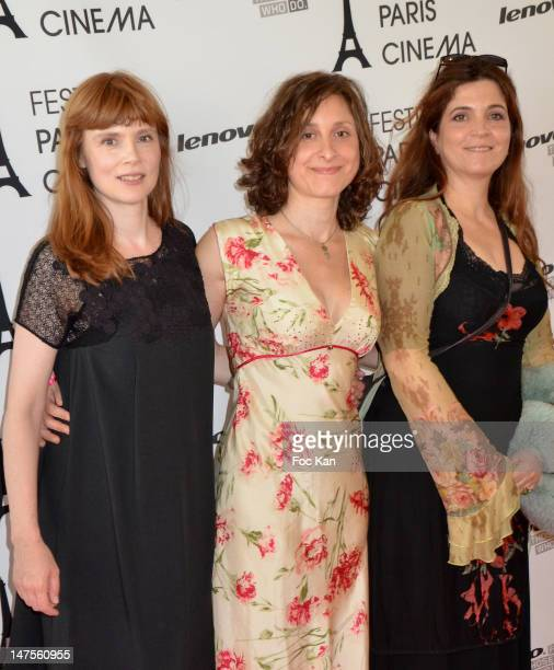 Actress Isabelle Carre director Carine Tardieu and actress/director Agnes Jaoui attend the 'Du Vent Dans Mes Mollets' Premiere Festival Paris Cinema...