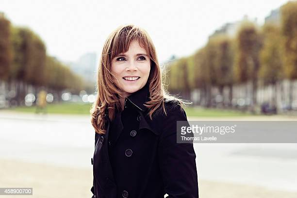 Actress Isabelle Carre is photographed for Self Assignment on October 12 2014 in Paris France