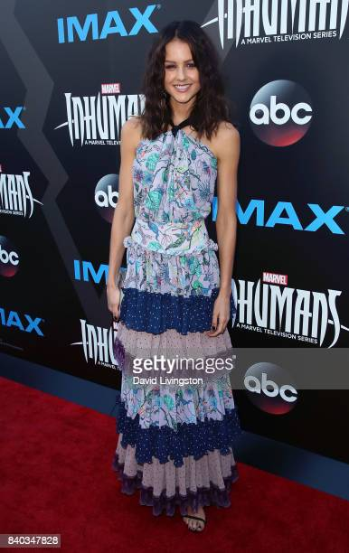 Actress Isabelle Cornish attends the premiere of ABC and Marvel's 'Inhumans' at Universal CityWalk on August 28 2017 in Universal City California