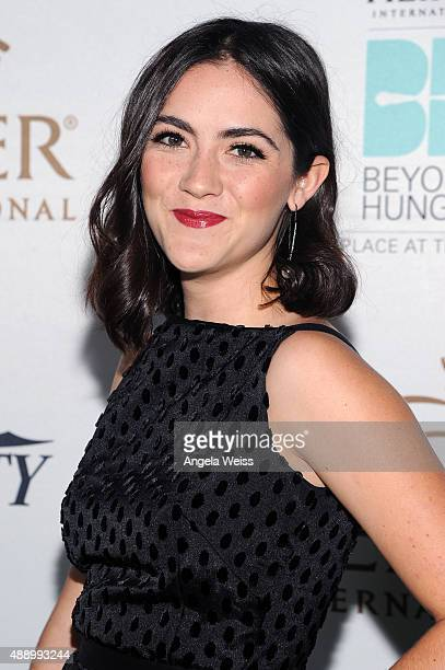 Actress Isabelle Fuhrman attends Heifer International's 4th Annual Beyond Hunger Gala at the Montage on September 18 2015 in Beverly Hills California...