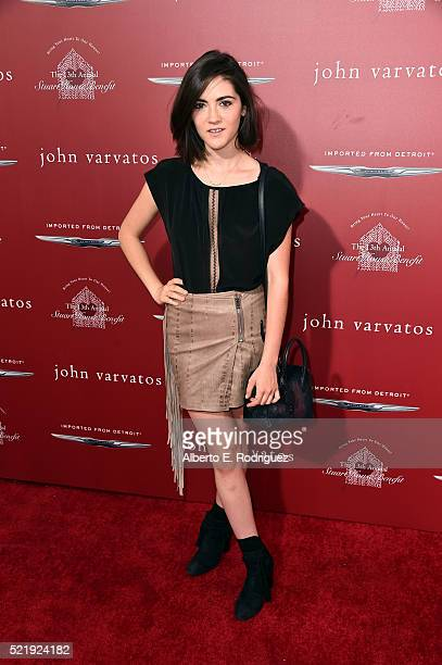 Actress Isabelle Fuhrman attends the John Varvatos 13th Annual Stuart House benefit presented by Chrysler with Kids' Tent by Hasbro Studios at John...