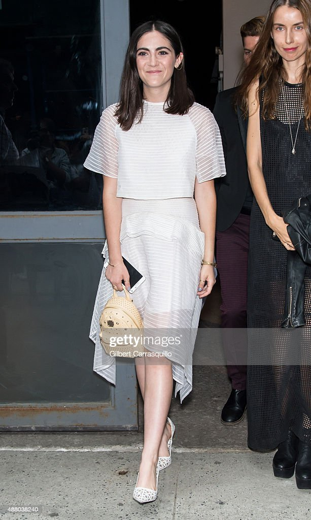 Actress Isabelle Fuhrman is seen arriving at Christian Siriano fashion show during Spring 2016 New York Fashion Week on September 12, 2015 in New York City.