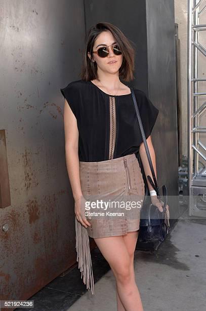Actress Isabelle Fuhrman with John Varvatos Eyewear at the 13th Annual Stuart House Benefit at John Varvatos on April 17 2016 in Los Angeles...