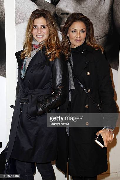Actress Isabelle Funaro and Actress Nadia Fares attend 'Un Homme et Une Femme' Screening for Its 50th Anniversary at l'Arlequin on November 6 2016 in...