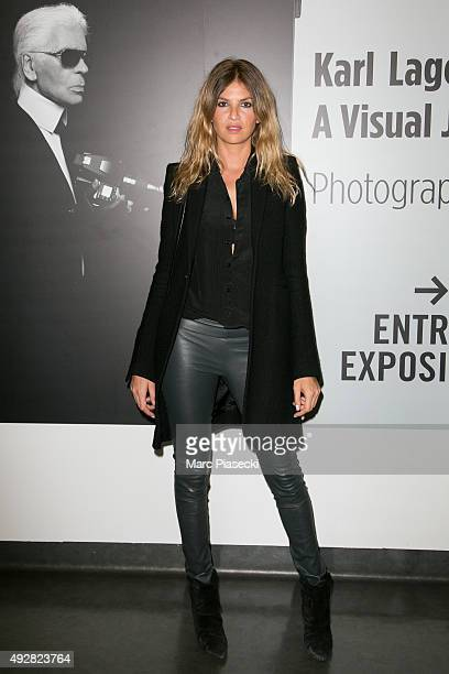 Actress Isabelle Funaro attends the 'Karl Lagerfeld a visual journey' photographs exhibition opening at La Pinacotheque on October 15 2015 in Paris...