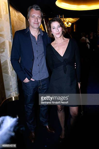 Actress Isabelle Gelinas and her best friend Eric Viellard attend the 'Paris Merveilles' Lido New Revue Opening Gala on April 8 2015 in Paris France