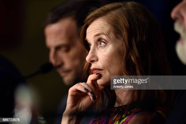 Actress Isabelle Herbert attends the 'Happy End' press conference during the 70th annual Cannes Film Festival on May 22 2017 in Cannes France