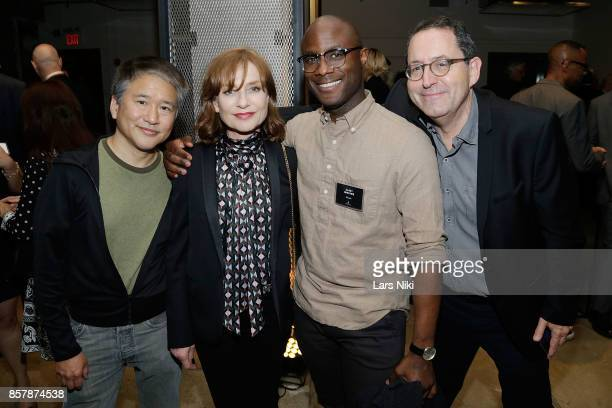 Actress Isabelle Hubert and director Barry Jenkins attend The Academy of Motion Picture Arts Sciences 2017 New Members Party at NeueHouse Madison...
