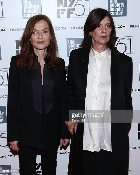 Actress Isabelle Huppert and director Catherine Breillat attend the 'Abuse Of Weakness' premiere during the 51st New York Film Festival at Alice...