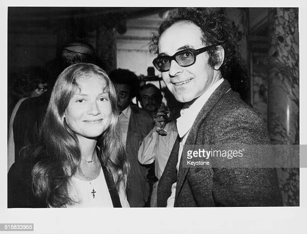 Actress Isabelle Huppert and director JeanLuc Goddard attending a party in honor of the French consulate in New York August 8th 1980