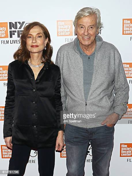 Actress Isabelle Huppert and director Paul Verhoeven attend the 54th New York Film Festival Things To Come premiere at Alice Tully Hall Lincoln...