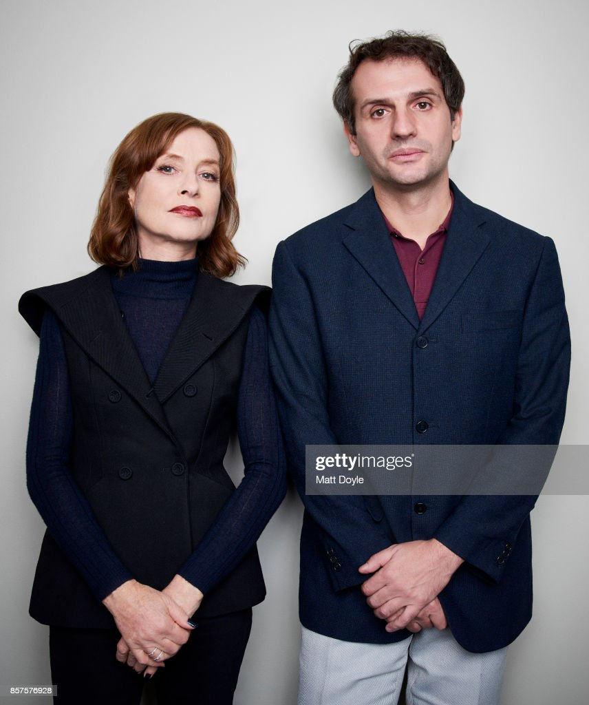 Actress Isabelle Huppert and director Serge Bozon from the film 'Madame Hyde' poses for a portrait at the 55th New York Film Festival on October 1, 2017.