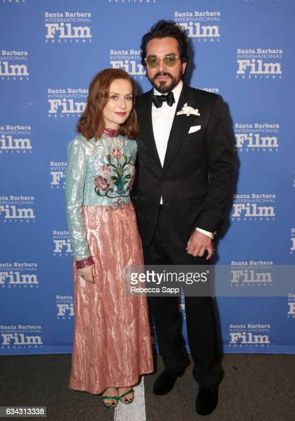 Actress Isabelle Huppert and SBIFF Executive Director Roger Durling attend the Montecito Award during the 32nd Santa Barbara International Film...