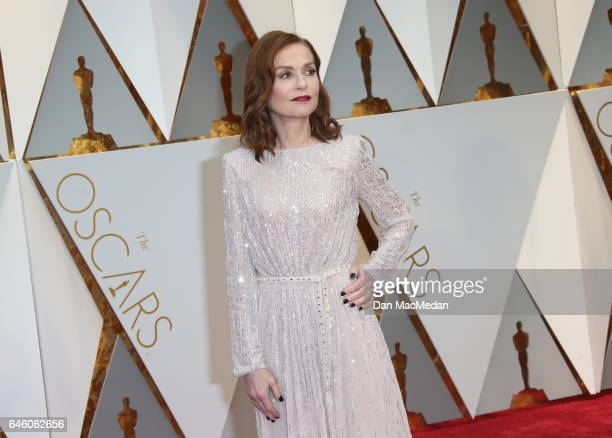 Actress Isabelle Huppert arrives at the 89th Annual Academy Awards at Hollywood Highland Center on February 26 2017 in Hollywood California