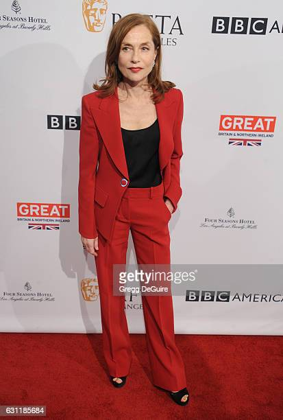 Actress Isabelle Huppert arrives at The BAFTA Tea Party at Four Seasons Hotel Los Angeles at Beverly Hills on January 7 2017 in Los Angeles California