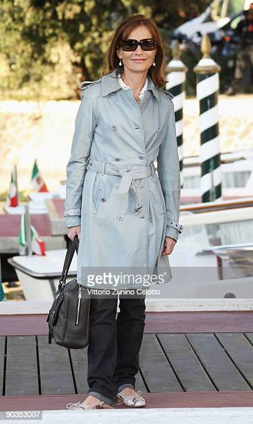 Actress Isabelle Huppert arrives at the Excelsior Hotel during the 66th Venice Film Festival on September 5 2009 in Venice Italy