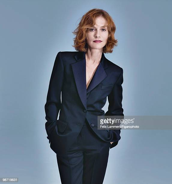 Actress Isabelle Huppert at a portrait session in 2009 for Madame Figaro Magazine Published image CREDIT MUST READ Felix Lammers/Figarophoto/Contour...