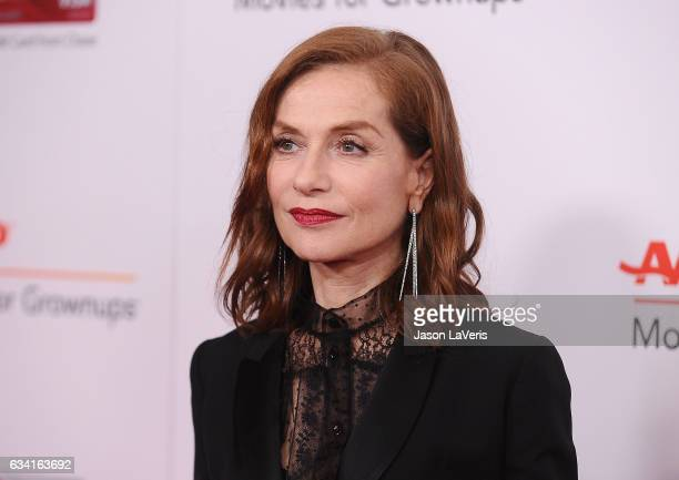 Actress Isabelle Huppert attends AARP's 16th annual Movies For Grownups Awards at the Beverly Wilshire Four Seasons Hotel on February 6 2017 in...