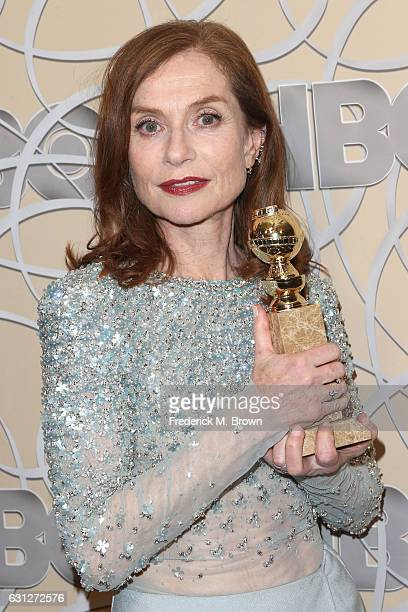 Actress Isabelle Huppert attends HBO's Official Golden Globe Awards After Party at Circa 55 Restaurant on January 8 2017 in Beverly Hills California