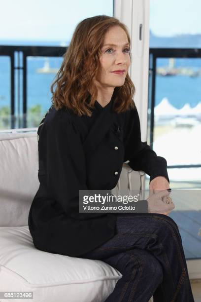 Actress Isabelle Huppert attends Kering Talks Women In Motion At The 70th Cannes Film Festival at Hotel Majestic on May 19 2017 in Cannes France