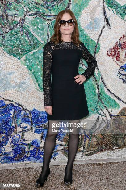 Actress Isabelle Huppert attends Louis Vuitton 2019 Cruise Collection at Fondation Maeght on May 28 2018 in SaintPaulDeVence France