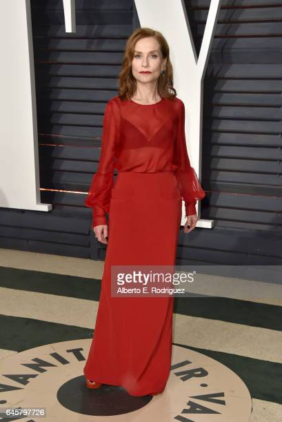 Actress Isabelle Huppert attends the 2017 Vanity Fair Oscar Party hosted by Graydon Carter at Wallis Annenberg Center for the Performing Arts on...