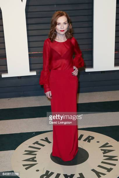 Actress Isabelle Huppert attends the 2017 Vanity Fair Oscar Party hosted by Graydon Carter at the Wallis Annenberg Center for the Performing Arts on...