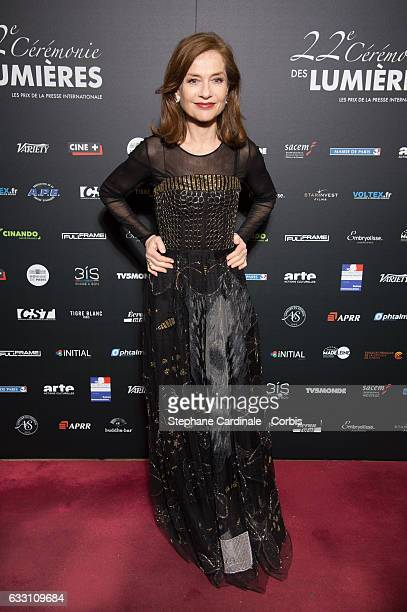Actress Isabelle Huppert attends the 22nd Lumieres Award Ceremony at Theatre de La Madeleine on January 30 2017 in Paris France
