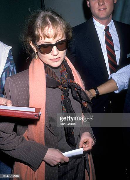 Actress Isabelle Huppert attends the 47th Annual Golden Globe Awards Rehearsals on January 19 1990 at the Beverly Hilton Hotel in Beverly Hills...