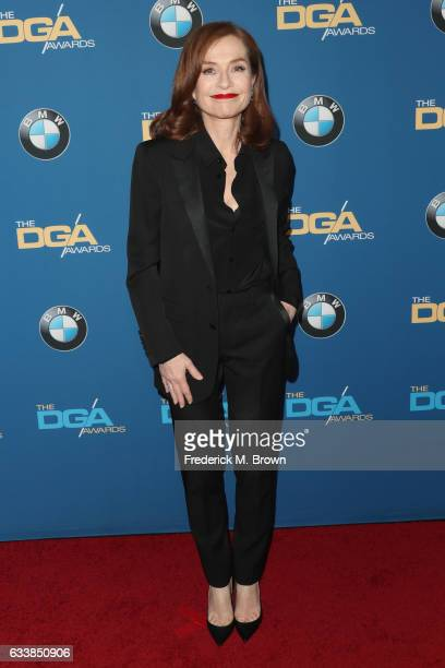 Actress Isabelle Huppert attends the 69th Annual Directors Guild of America Awards at The Beverly Hilton Hotel on February 4 2017 in Beverly Hills...