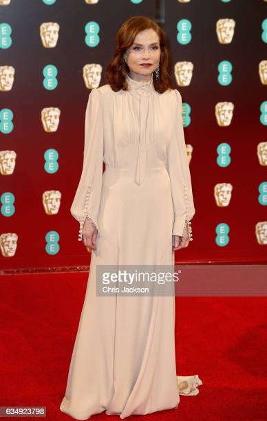 Actress Isabelle Huppert attends the 70th EE British Academy Film Awards at Royal Albert Hall on February 12 2017 in London England