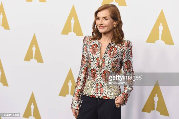 Actress Isabelle Huppert attends the 89th Annual Academy Awards Nominee Luncheon at The Beverly Hilton Hotel on February 6 2017 in Beverly Hills...