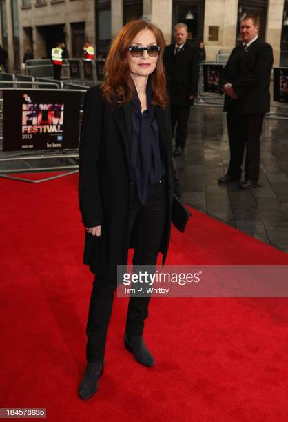 """Actress Isabelle Huppert attends the """"Abuse Of Weakness"""" screening during the 57th BFI London Film Festival at the Odeon West End on October 14, 2013..."""