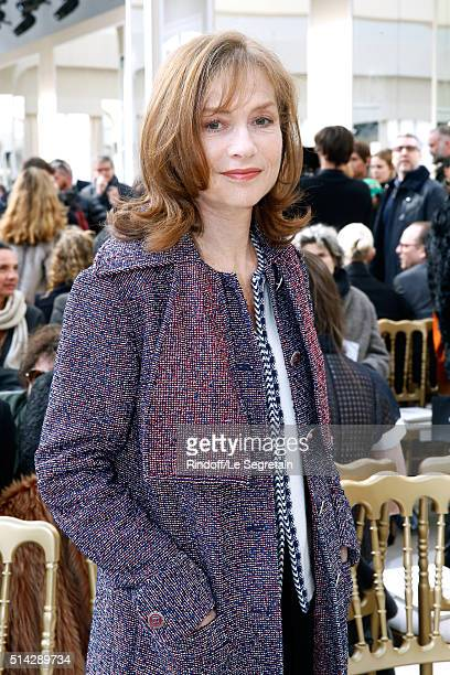 Actress Isabelle Huppert attends the Chanel show as part of the Paris Fashion Week Womenswear Fall/Winter 2016/2017 on March 8 2016 in Paris France